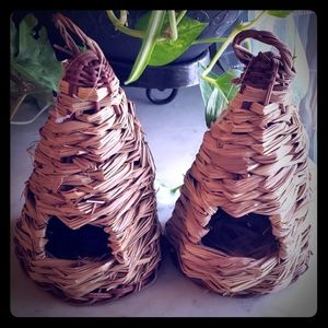 Other - Pair New Basket Weave Birdhouses